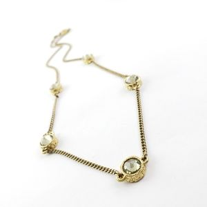 marc by marc jacobs necklace gold + rhinestones